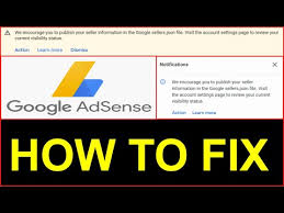 fix google adsense sellers json file