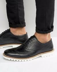 men s brogue shoes black leather