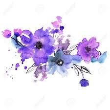Flores Pintadas A Mano Lindo De La Acuarela Invitacion Tarjeta