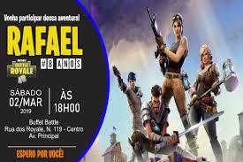 Convite Fortnite Battle Royale Digital Em 2020 Convite De