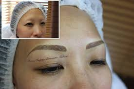 realistic permanent eyebrows on a