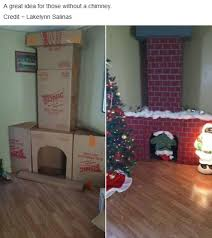 fireplace and chimney for santa made