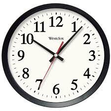 black electric wall clock 32189a