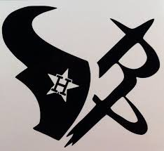 Texans Rockets Astros Multi Team Logo Decal Texans Logo Houston Texans Logo Houston Texas Tattoos