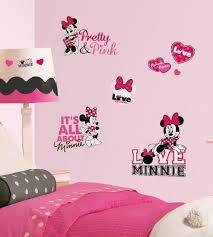 Mickey Friends Minnie Loves Pink Peel Stick Wall Decals Wall Decal Allposters Com