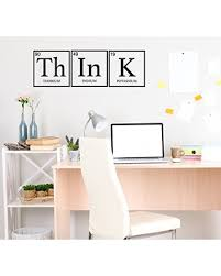Amazing Savings On Wall Decor For Teens Think Periodic Table Decoration Removable Vinyl Decal For Children Bedroom Playroom Or Study Area