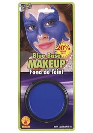 blue base face makeup smurf and