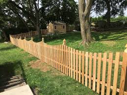 Red Cedar Concave Picket W French Gothic Posts Smucker Fencing