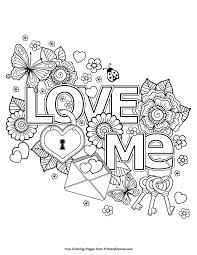 Love Me Coloring Page Free Printable Ebook Kleurplaten