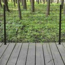 50 Black Euro Steel Fence Post With Hardware At Menards