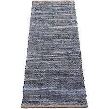 denim jute runner rug size 24 x60