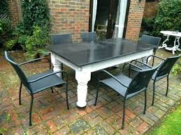 table tile and wood patio tables