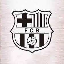 Monochrome Reflective Car Stickers Barcelona Team Logo Barca Team Store