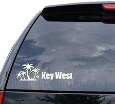 Amazon Com Key West Florida Palm Trees Decal Sticker Car Truck Motorcycle Window Ipad Laptop Wall Decor Size 10 Inch 25 Cm Wide Color Gloss Red