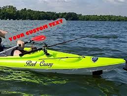 Amazon Com Kayak Canoe Jet Ski Boat Custom Name Vinyl Decal Sticker Handmade
