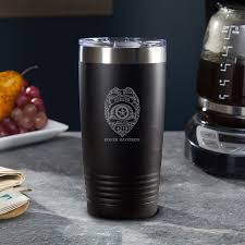 Police Badge Personalized Insulated Tumbler Gift For Cops