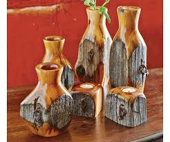 Turned Wood Fence Post Vases Whitefish Gallery Nights