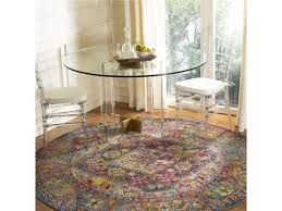 power loomed round area rug navy