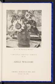 Virginia Artist Series No. 10: Adele Williams - (RG23.06.1940.010 ...