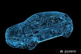 Car 3d Rendered Xray Blue Transparent Sticker Pixers We Live To Change