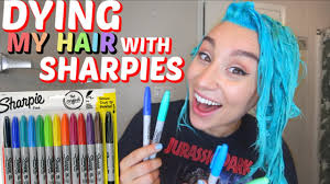 dying my hair with sharpies permanent