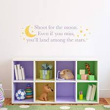 Amazon Com Shoot For The Moon Wall Decal Land Among The Stars Decal Moon Stars Wall Art Medium Handmade