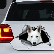 White German Shepherd Car Decal White German Shepherd Sticker Pet Decal Pets Car Decals Cat Stickers