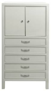 5 drawer jewelry armoire soft gray