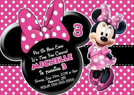 Minnie Mouse Printable Birthday Invitations Invitaciones Minnie