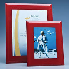 red glass frame for a4 photo or