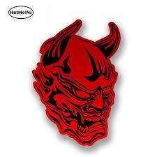 Hotmeini 13cm X 10cm Car Styling 3d Red Devil Vinyl Sticker Car Decal Motorbike Bike Helmet Laptop Satan Windows Accessories Car Stickers Aliexpress