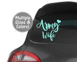 Army Wife Car Decal Army Vinyl Decal For Tumbler Us Army Wife Sticker For Laptop Army Love Decal For Yeti Cup M Decals For Yeti Cups Vinyl Decals Army Wife