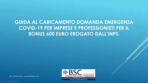 Procedura di richiesta bonus 600 euro inps per imprese e ...