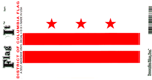 District Of Columbia Washington Dc Flag Decal Sticker Durable Vinyl From Flags Unlimited Us Flags