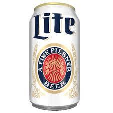 miller lite beer can american