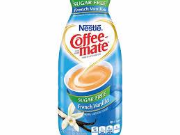 sugar free french vanilla nutrition