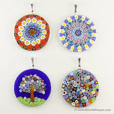 large millefiori pendants whole
