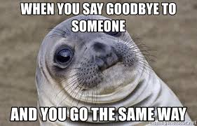 Image result for saying goodbye to someone who is going the same way