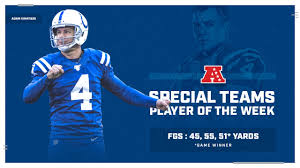 Indianapolis Colts kicker Adam Vinatieri has been named the Week 8 ...