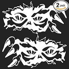 Amazon Com Peeking Eyes Skull Decal Zombie Large Boat Vinyl Graphics Auto Car Body Truck Sticker 23 X12 White Automotive