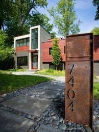 Various Fence Mounted Mailbox Design Contemporary Exterio With Steel Modern Mailbox Design Modern Mailbox Building A Container Home