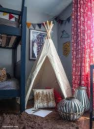 This Camping Themed Bedroom Makeover Will Make You Want To Be A Kid Again Camping Bedroom Decor Bedroom Themes Kids Bedroom Makeover