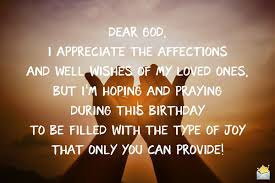 birthday prayers for myself god give his blessing