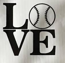 Love Baseball Softball Vinyl Decal Etsy