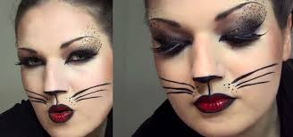 y cat makeup look with leopard spots