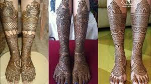 bridal mehndi design full leg