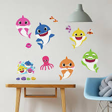 Roommates 35 Piece Baby Shark Peel And Stick Wall Decal Set Buybuy Baby