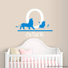 Lion King Wall Decal Personalized Name Wall Decal Lion Vinyl Decal Nursery Decals Boy Name Decals Lion W Nursery Decals Boy Disney Wall Decals Baby Room Decals