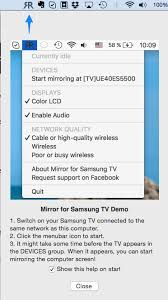 mirror mac screen to samsung smart tv
