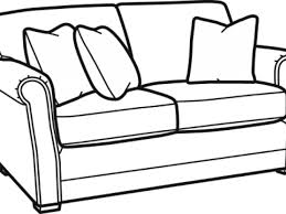 couch clipart black and white png image